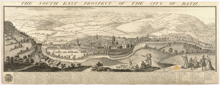 Prospect Of The City Of Bath, Buck, 1734